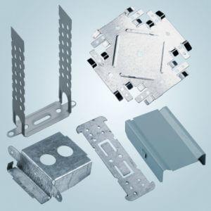 Элементы крепления гипсокартонных систем: подвесы и соединители